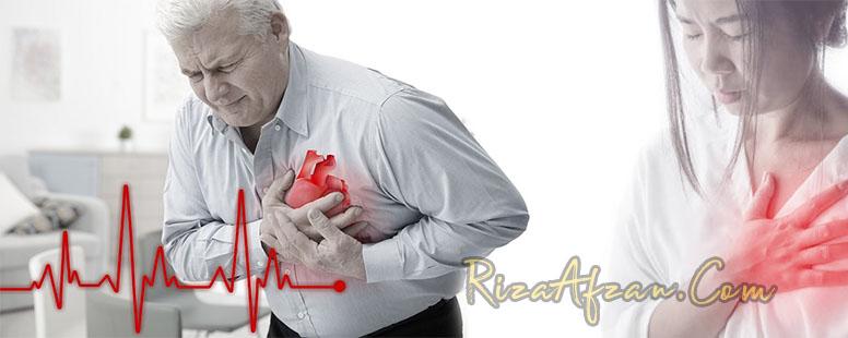 punca sakit jantung lelaki wanita
